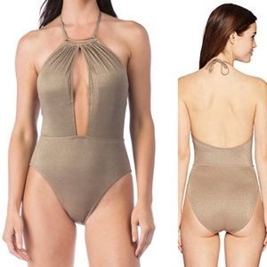 NWT Gold Glitter Swimsuit {Kenneth Cole}
